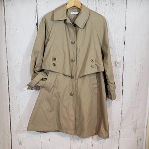 VINTAGE Misty Harbor 6P tan trench coat